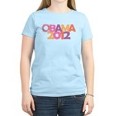 Obama Flowers 2012 Women's Light T-Shirt