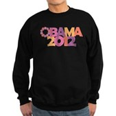 Obama Flowers 2012 Sweatshirt (dark)