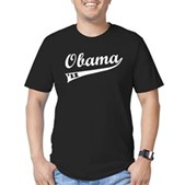 Obama 2012 Swish Men's Fitted T-Shirt (dark)