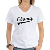 Obama 2012 Swish Women's V-Neck T-Shirt