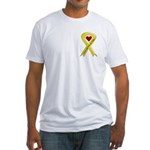 Yellow Ribbon Love Miss Soldier Fitted T-Shirt