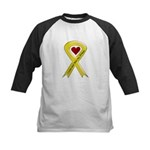 Yellow Ribbon Love Miss Airman Kids Baseball Jerse