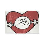 Bad Attitude Heart Rectangle Magnet (100 pack)