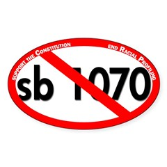 Red Slash Through SB 1070 Bumper Sticker