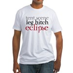Tent Scene, Leg Hitch, Eclipse Fitted T-Shirt