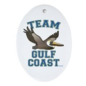 Team Gulf Coast Pelican Ornament (Oval)