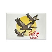 Gulf Coast Pelicans Rectangle Magnet