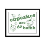 Cupcakes Are Da Bomb Framed Panel Print