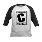 Content Rated C: Castle Fan Kids Baseball Jersey