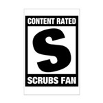 Content Rated S: Scrubs Fan Mini Poster Print
