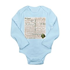 Shakespeare Insults T-shirts & Gifts Long Sleeve Infant Bodysuit