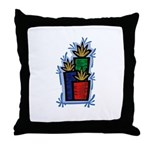 Woodblock Presents Throw Pillow