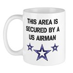AREA SECURED US AIRMAN Mug