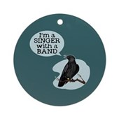  Singer with a Band Ornament (Round)