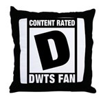 Content Rated D: Dancing With The Stars DWTS Fan Throw Pillow