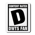 Content Rated D: Dancing With The Stars DWTS Fan Mousepad