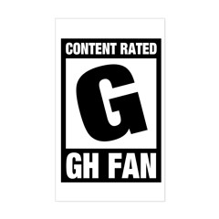 Content Rated G: General Hospital Fan Sticker (Rectangle)