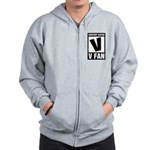 Content Rated V: V Fan Zip Hoodie
