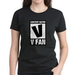 Content Rated V: V Fan Women's Dark T-Shirt