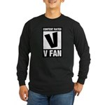 Content Rated V: V Fan Long Sleeve Dark T-Shirt
