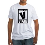 Content Rated V: V Fan Fitted T-Shirt