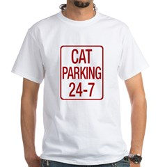 Cat Parking White T-Shirt