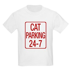 Cat Parking Kids Light T-Shirt