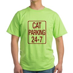 Cat Parking Green T-Shirt