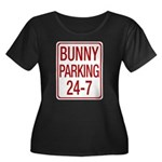 Bunny Parking Women's Plus Size Scoop Neck Dark T-Shirt