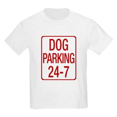 Dog Parking Kids Light T-Shirt