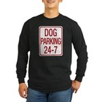 Dog Parking Long Sleeve Dark T-Shirt