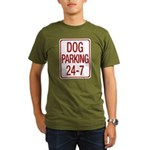 Dog Parking Organic Men's T-Shirt (dark)