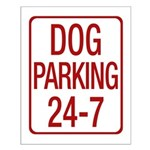 Dog Parking Small Poster