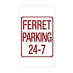 Ferret Parking Sticker (Rectangle)