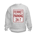 Ferret Parking Kids Sweatshirt