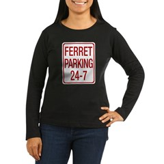 Ferret Parking Women's Long Sleeve Dark T-Shirt