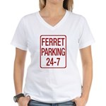 Ferret Parking Women's V-Neck T-Shirt