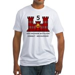 5th Engineer Battalion Fitted T-Shirt