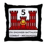 5th Engineer Battalion Throw Pillow
