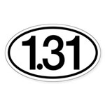 1.31 Sticker (Oval)
