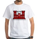 875th Engineer Battalion - Army White T-Shirt
