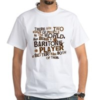Baritone Player (Funny) Gift White T-Shirt