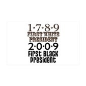 Presidential Firsts 38.5 x 24.5 Wall Peel