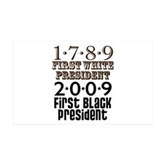 US Firsts: 1789-2009 35x21 Wall Decal