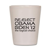 Logical Obama 2012 Shot Glass