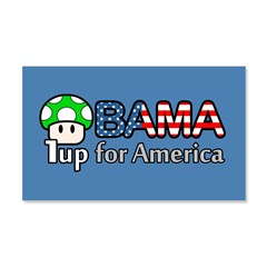 Obama 1up for America 20x12 Wall Decal