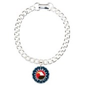 Obama For Peace Charm Bracelet, One Charm