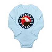 Obama-Biden Eagle Long Sleeve Infant Bodysuit