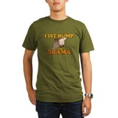 Fist Bump for Obama Organic Men's T-Shirt (dark)