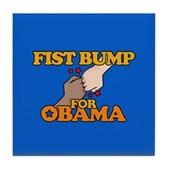 Fist Bump for Obama Tile Coaster